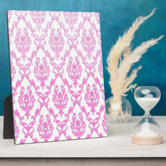 Vintage Pink and White Pattern Plaque