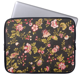 Vintage Pink And Yellow Floral Pattern Computer Sleeves