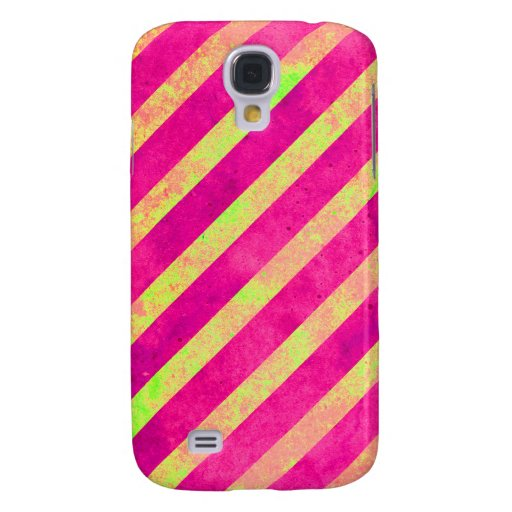 Vintage Pink and Yellow Stripes HTC Vivid Case