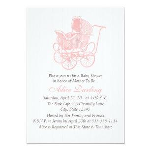 baby carriage invitations zazzle