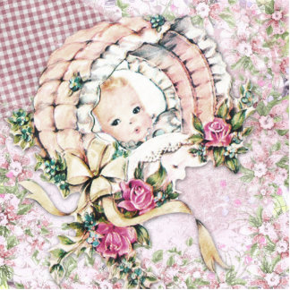 Vintage Pink Baby Girl Shower Cutout