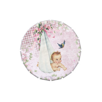 Vintage Pink Baby Shower Candy Tins Candy Tin