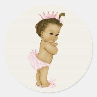 Vintage Pink Baby Shower Stickers