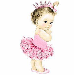 Pink Princess Ballerina Baby Girl Cake Edible Image,Pink Vintage Baby Girl