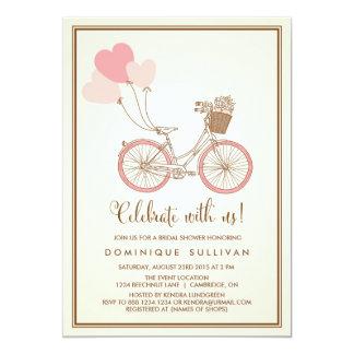 VINTAGE PINK BICYCLE BRIDAL SHOWER INVITATION