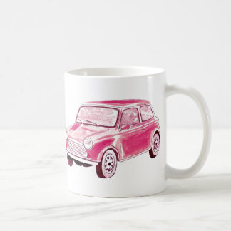 Vintage Pink Car Coffee Mug