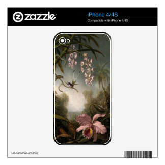 Vintage Pink Cattelya Orchid iPhone 4/4S Skin Decal For The iPhone 4S