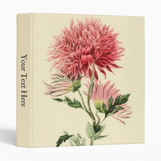 Vintage Pink Chrysanthemum Flower Binders