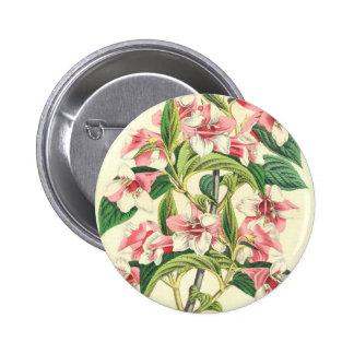 Vintage Pink Chrysanthemum Flower Button