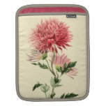 Vintage Pink Chrysanthemum Flower iPad Sleeve