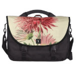 Vintage Pink Chrysanthemum Flower Laptop Bag