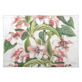 Vintage Pink Chrysanthemum Flower Placemat