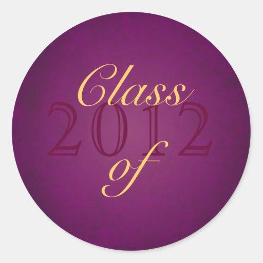 Vintage Pink Class of Graduation Sticker