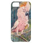 Vintage Pink Cockatoo Print iPhone 5C Cases