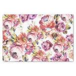 Vintage Pink Coral Elegant Roses Floral Pattern Tissue Paper at Zazzle