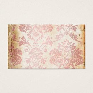 Vintage Pink Damask Business Card