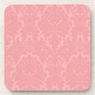 Vintage Pink Damask Coaster