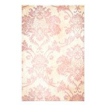 Vintage Pink Damask Stationery
