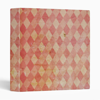 Vintage Pink Diamonds Textile Grunge Binder