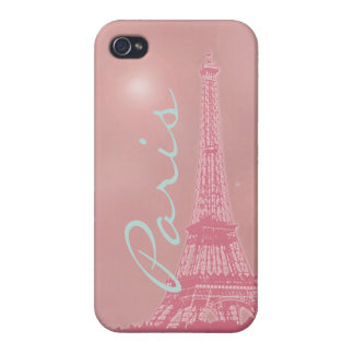 Vintage Pink Eiffel Tower iPhone 4/4S Covers