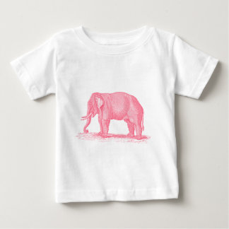 Vintage Pink Elephant 1800s Elephants Illustration Baby T-Shirt