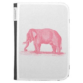 Vintage Pink Elephant 1800s Elephants Illustration Kindle Keyboard Case