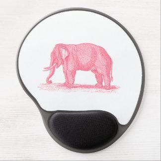 Vintage Pink Elephant 1800s Elephants Illustration Gel Mouse Pad