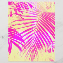 Vintage pink exotic palm tree retro yellow