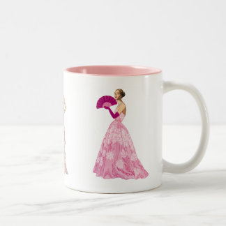 Vintage Pink Fashions Mug for Fashionista or Diva