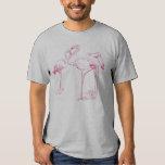 Vintage  Pink Flamingo Drawing T-shirt