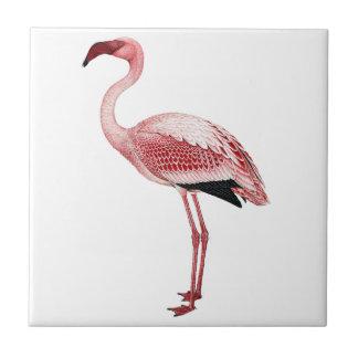 Vintage Pink Flamingo Painting Ceramic Tile