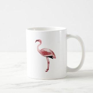 Vintage Pink Flamingo Painting Classic White Coffee Mug