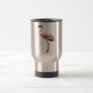 Vintage Pink Flamingo Painting 15 Oz Stainless Steel Travel Mug
