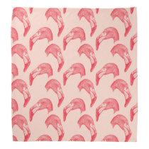 Vintage Pink Flamingo Pattern Bandana