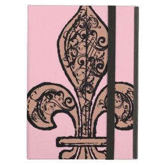 Vintage Pink Fleur de lis iPad Case