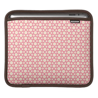 Vintage Pink Floral Design iPad Case rickshaw_sleeve