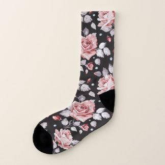 Vintage Pink Floral Pattern All-Over-Print Socks
