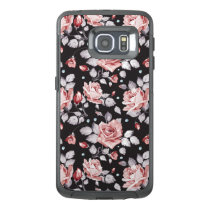 Vintage Pink Floral Pattern OtterBox Samsung Galaxy S6 Edge Case