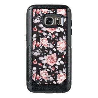 Vintage Pink Floral Pattern OtterBox Samsung Galaxy S7 Case
