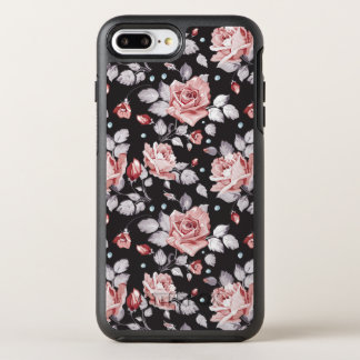Vintage Pink Floral Pattern OtterBox Symmetry iPhone 8 Plus/7 Plus Case
