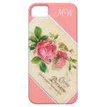 Vintage Pink Floral Rose - iPhone 5 iPhone 5 Cover