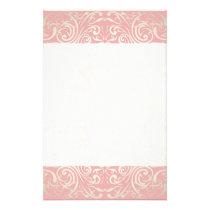 Vintage,pink,floral,victorian,gold,elegant,pattern Stationery