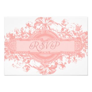 Pastel Pink Wedding Invitations | Vintage Floral