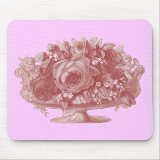 Vintage Pink Flower Arrangement Mouse Pad