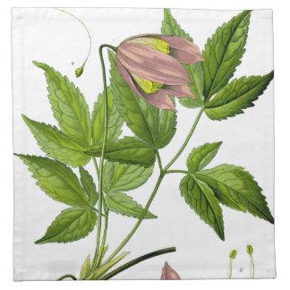 Vintage Pink Flower Cloth Napkin