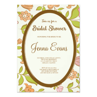 Vintage Pink Flower Floral Bridal Shower Invite