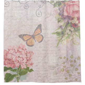 Curtains Ideas butterfly shower curtain : Vintage Butterfly Shower Curtains | Zazzle