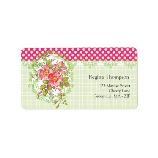 Vintage Pink Flowers Cottage Dream Labels