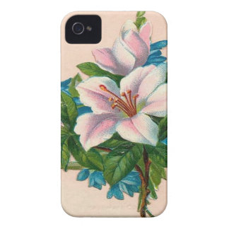 Vintage Pink Flowers, Grandmother Birthday iPhone 4 Case-Mate Case
