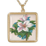 Vintage Pink Flowers, Grandmother Birthday Pendants